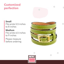 Load image into Gallery viewer, Bracelet 4V - Green - LALE - LEATHER - BRACELETS