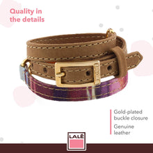 Load image into Gallery viewer, Bracelet Ale - Magenta Stripes - LALE - LEATHER - BRACELETS