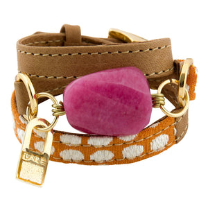 Bracelet Ale - Orange Dots - LALE - LEATHER - BRACELETS
