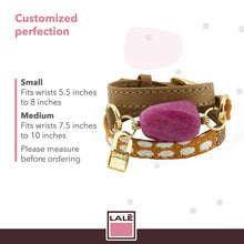 Load image into Gallery viewer, Bracelet Ale - Orange Dots - LALE - LEATHER - BRACELETS