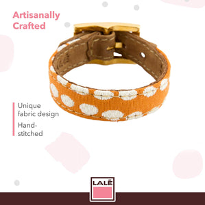 Bracelet 1V - Orange Dots - LALE - LEATHER - BRACELETS