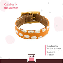 Load image into Gallery viewer, Bracelet 1V - Orange Dots - LALE - LEATHER - BRACELETS