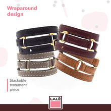 Load image into Gallery viewer, Bracelet Half Moon - Camel - LALE - LEATHER - BRACELETS