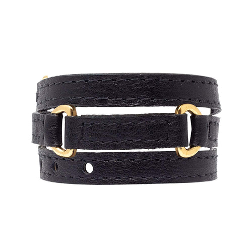 Bracelet Half Moon - Black - LALE - LEATHER - BRACELETS