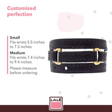 Load image into Gallery viewer, Bracelet Half Moon - Black - LALE - LEATHER - BRACELETS