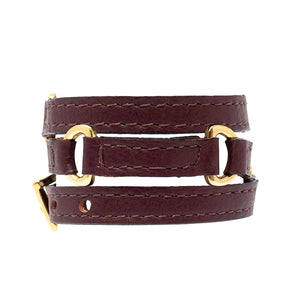 Bracelet Half Moon - Brown - LALE - LEATHER - BRACELETS