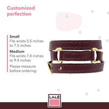 Load image into Gallery viewer, Bracelet Half Moon - Brown - LALE - LEATHER - BRACELETS