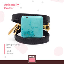 Load image into Gallery viewer, Bracelet Ale - Black Leather - LALE - LEATHER - BRACELETS