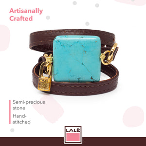 Bracelet Ale - Brown Leather - LALE - LEATHER - BRACELETS