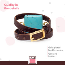 Load image into Gallery viewer, Bracelet Ale - Brown Leather - LALE - LEATHER - BRACELETS