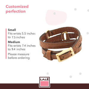 Bracelet Half Moon - Camel - LALE - LEATHER - BRACELETS