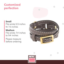 Load image into Gallery viewer, Bracelet Half Moon - Grey - LALE - LEATHER - BRACELETS