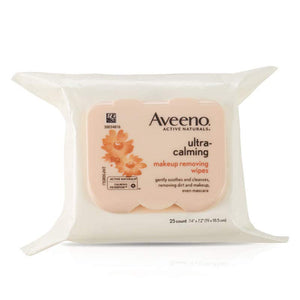 Aveeno Ultra-Calming Cleansing Oil-Free Makeup Removing Wipes