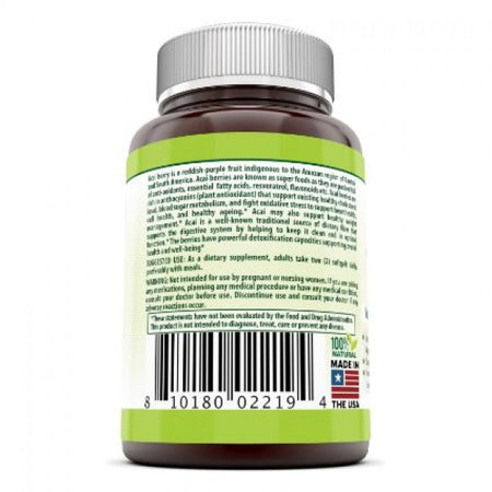 Herbal Secrets Acai 500 Mg 120 Softgels - herbalsecrets
