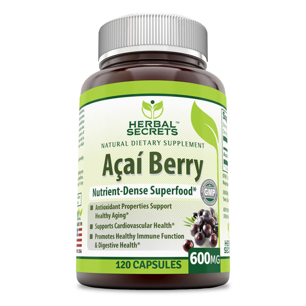 Herbal Secrets Acai 600 Mg 120 Capsules - herbalsecrets