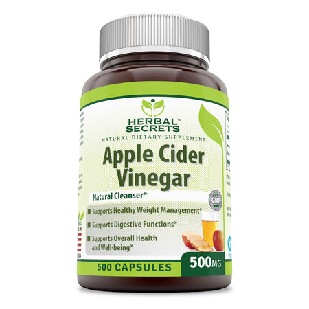 Herbal Secrets Apple Cider Vinegar 500 Mg 500 Capsules - herbalsecrets