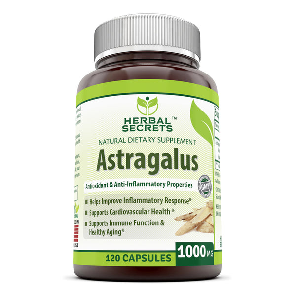 Herbal Secrets Astragalus 1000 Mg 120 Capsules - herbalsecrets