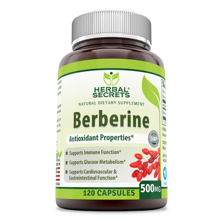 Herbal Secrets Berberine 500 Mg 120 Capsules - herbalsecrets