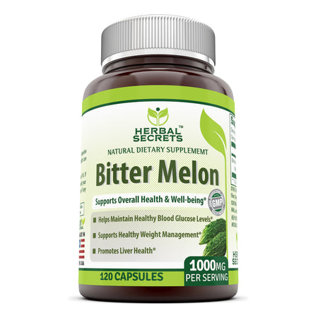 Herbal Secrets Bitter Melon 1000 Mg 120 Capsules - herbalsecrets