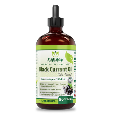 Herbal Secrets Black Currant Oil 4 Fl Oz (118 Ml) - herbalsecrets