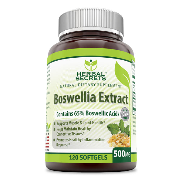 Herbal secrets Boswellia Extract 500 Mg 120 Softgels - herbalsecrets