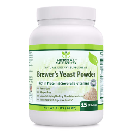 Herbal Secrets Brewer's Yeast Powder 16 Oz 1 Lbs - herbalsecrets