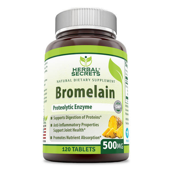 Herbal Secrets Bromelain 500 Mg 120 Tablets - herbalsecrets