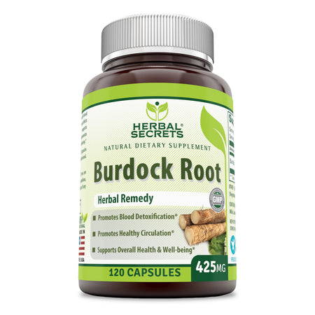 Herbal Secrets Burdock Root 425 Mg 120 Capsules - herbalsecrets