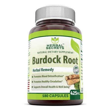 Herbal Secrets Burdock Root 425 Mg 180 Capsules - herbalsecrets