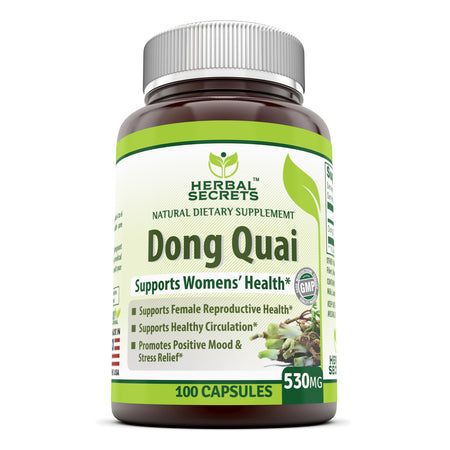 Herbal Secrets Dong Quai 530 Mg 100 Capsules - herbalsecrets