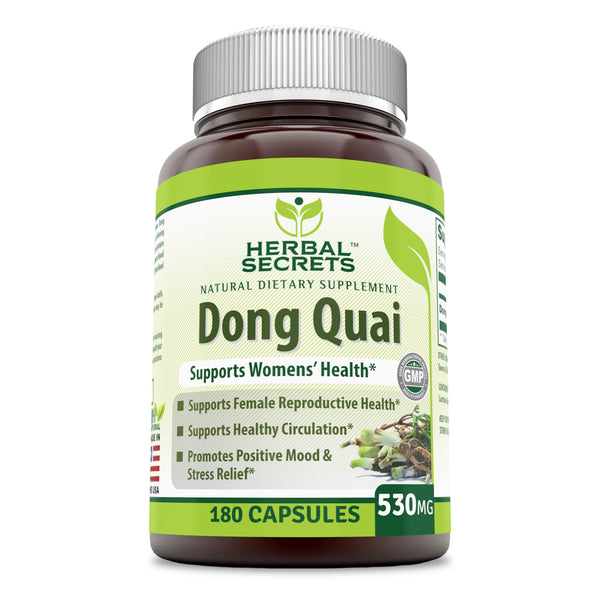 Herbal Secrets Dong Quai 530 Mg 180 Capsules - herbalsecrets