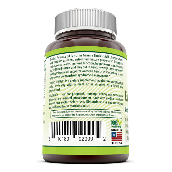 Herbal Secrets Evening Primrose Oil 1300 Mg 120 Softgels - herbalsecrets