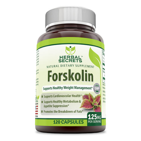 Herbal Secrets Forskolin 125 Mg 120 Capsules