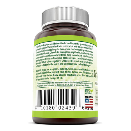 Herbal Secrets Grapeseed Extract 400 Mg 120 Capsules - herbalsecrets