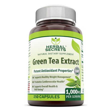 Herbal Secrets Green Tea Extract 1000 Mg 250 Capsules - herbalsecrets