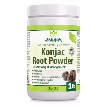 Herbal Secrets Konjac Root Powder 16 Oz - herbalsecrets