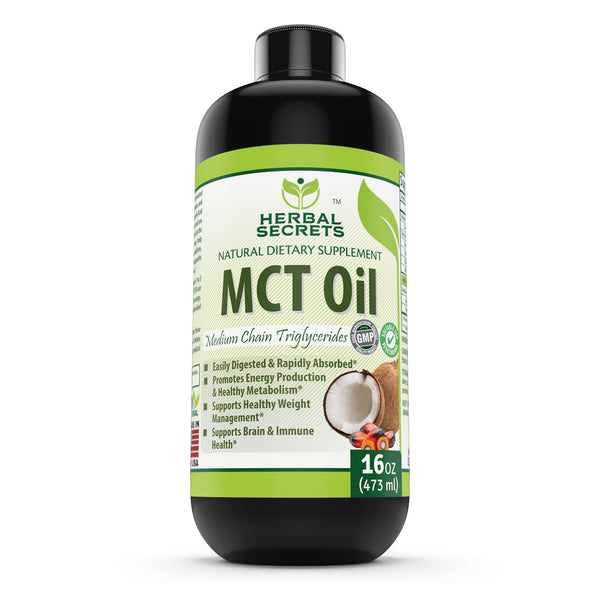 Herbal Secrets 100% Pure MCT Oil 16 Fl Oz - herbalsecrets