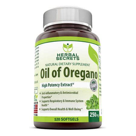 Herbal Secrets Oil of Oregano 250 Mg 120 Softgels - herbalsecrets