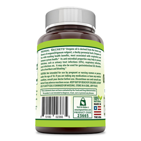 Herbal Secrets Oil Of Oregano 250 Mg 240 Softgels - herbalsecrets