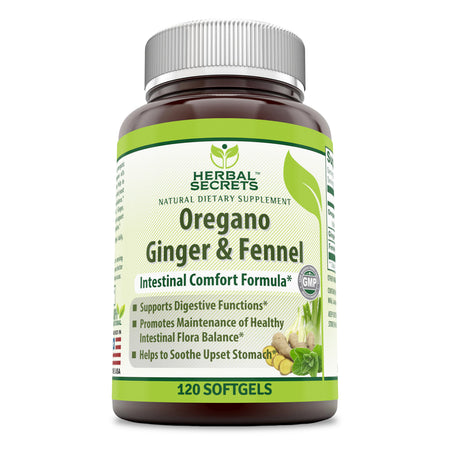 Herbal Secrets Oregano Ginger & Fennel 120 Softgels - herbalsecrets