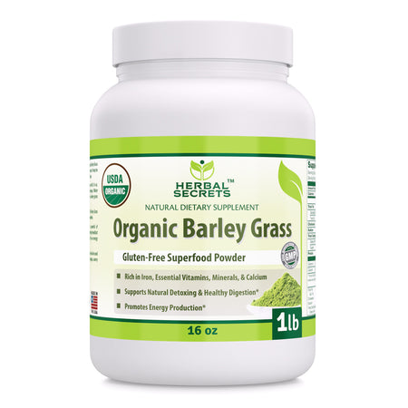 Herbal Secrets Organic Barley Grass 16 Oz - herbalsecrets