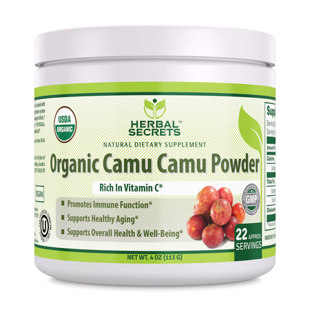 Herbal Secrets Organic Camu Camu Powder 4 Oz - herbalsecrets