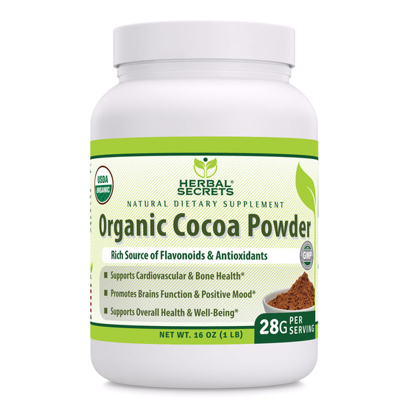 Herbal Secrets Organic Cocoa Powder 16 Oz 1 Lb - herbalsecrets