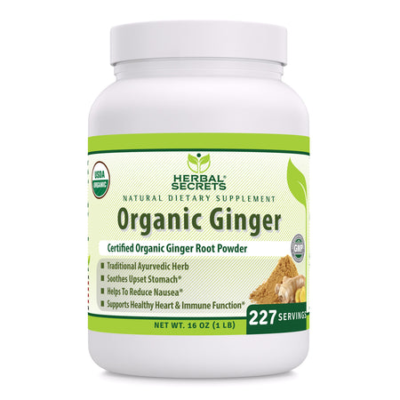 Herbal Secrets Organic Ginger Powder 16 Oz