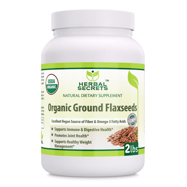 Herbal Secrets Organic Ground Flaxseeds 2 Lbs - herbalsecrets
