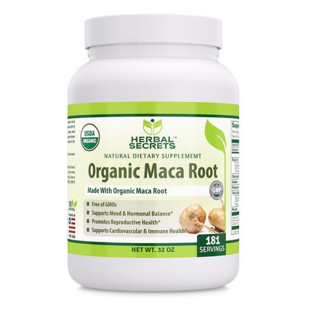 Herbal Secrets Organic Maca Root Powder 32 Oz - herbalsecrets