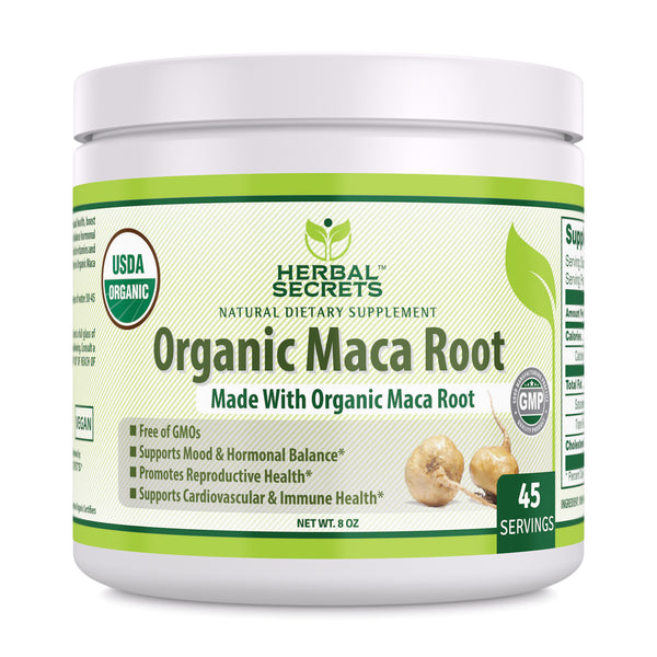 Herbal Secrets Organic Maca Root Powder 8 Oz - herbalsecrets