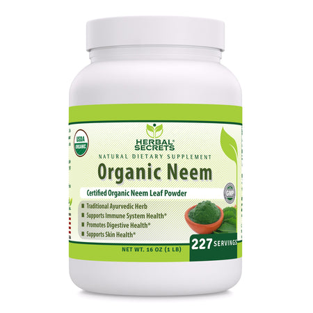 Herbal Secrets Organic Neem Powder 16 Oz - herbalsecrets