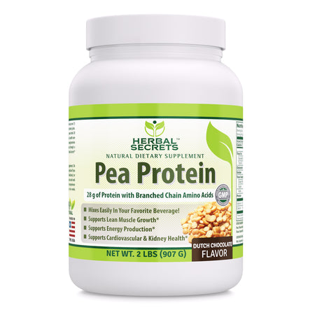 Herbal Secrets Pea Protein Dutch Chocolate Flavor 2 Lbs