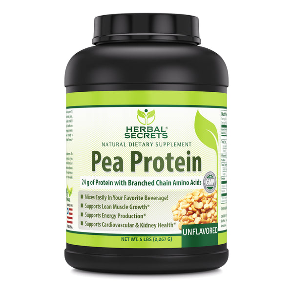 Herbal Secrets Pea Protein Unflavored 5 Lbs - herbalsecrets